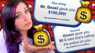 MOOCHING Off My YouTube Friends ...in BitLife