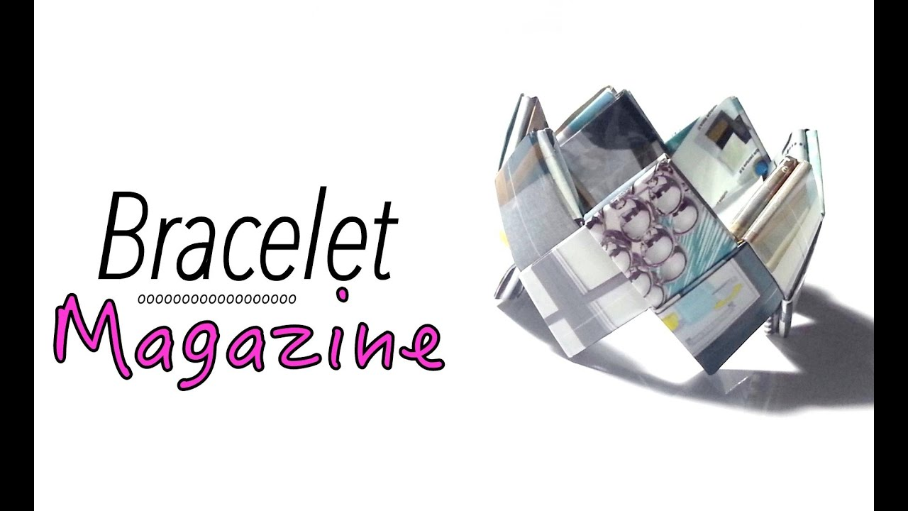Diy comment faire un bracelet avec du papier magazine youtube - Comment faire un magazine ...