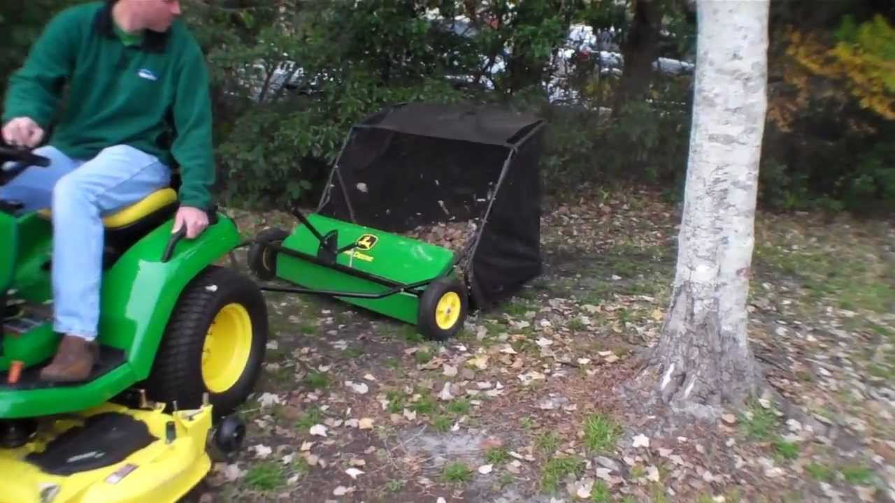how a lawn sweeper works