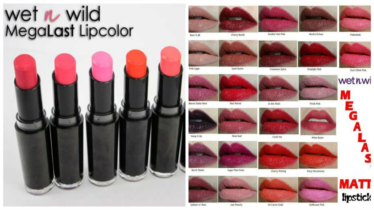 Wet N Wild | Megalast Lipstick collection - YouTube