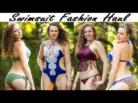 ASMR Ear Massage, Binaural Whisper | 2017 Summer Swimsuit Fashion Haul & Try On
