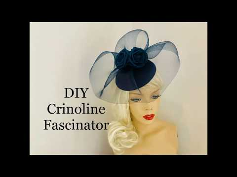 How To Make A Crinoline Fascinator Hat - Millinery - Wedding Hat Making - Crin Headpiece