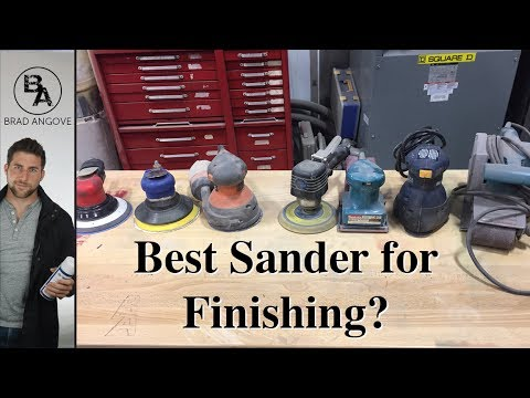 What kind of sander is best for finishing