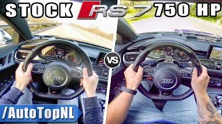 AUDI RS7 | STOCK 560HP vs 750HP TUNED | ACCELERATION & AUTOBAHN POV 325km/h by AutoTopNL