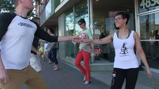 International West Coast Swing Flash Mob 2017 - DF Dance West Coast Swing Team in Salt Lake City!