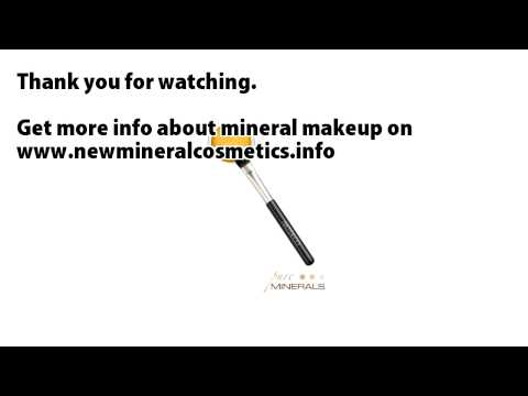 mineral makeup Pure minerals mineral eyeshadow brush