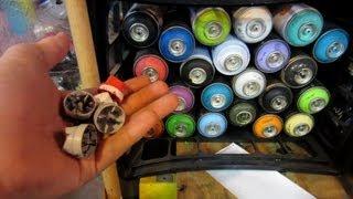 Graffiti Supplies and Setup