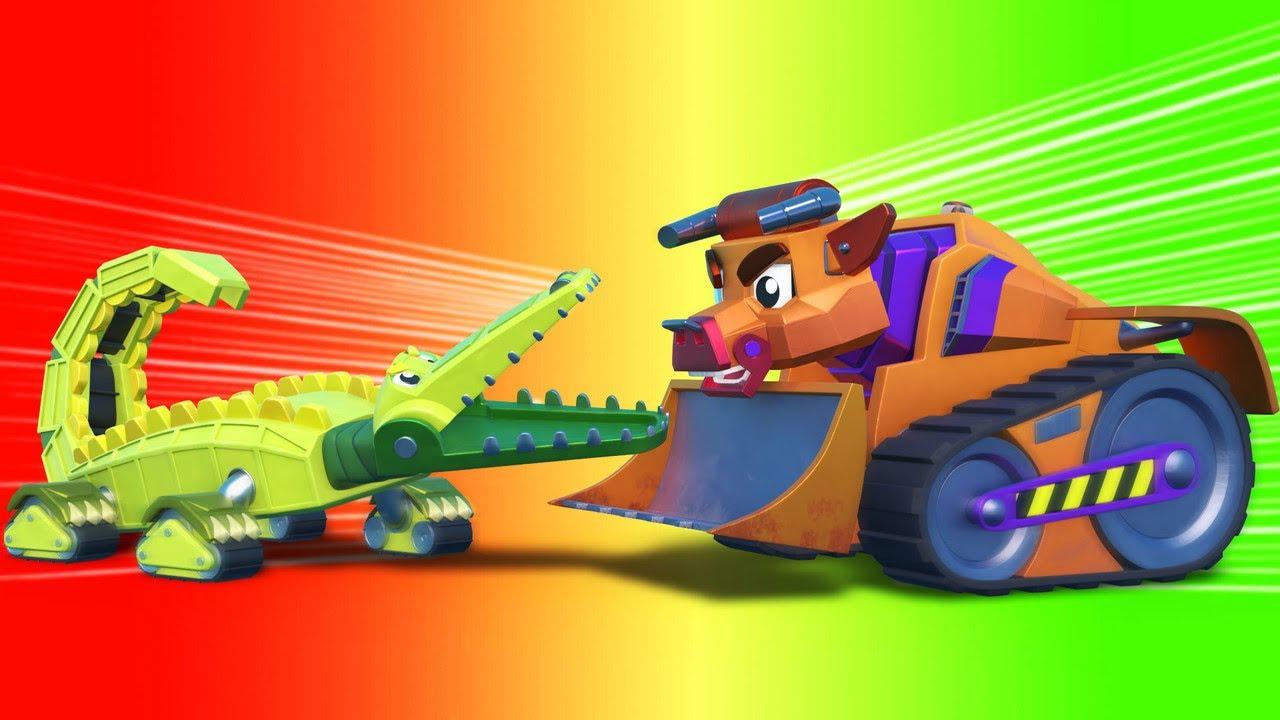AnimaCars - Lo Mejor de AVENTURAS animadas - caricaturas para niños con camiones & animales