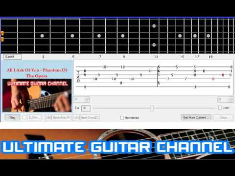 Guitar Solo Tab] All I Ask Of You - Phantom Of The Opera (Andrew ...
