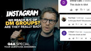 Are DM Groups BAD for your Instagram Account? - Q&A Time 🧐