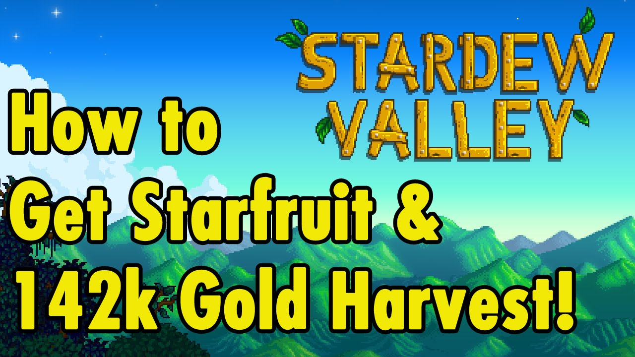 How To Get Starfruit Seeds And 142k Harvest Stardew Valley Xbeaugaming Youtube The starfruit is about.75 x.75 material : how to get starfruit seeds and 142k harvest stardew valley xbeaugaming