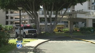 Fire breaks out at Marco Polo building on Kapiolani Blvd.