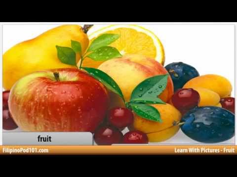 Учите филиппинский с картинками - поговорим о фруктах