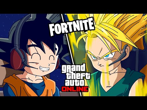 GOTEN Y TRUNKS JUEGAN GTA V Y FORTNITE (A ESCONDIDAS DE GOKU Y VEGETA) | FactyKilian