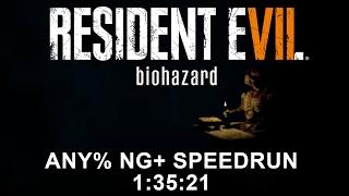 Resident Evil 7 biohazard Any% NG+ Speedrun 1:35:21 (PC)(former PB)