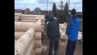видео Строительство дома из калиброванного бруса