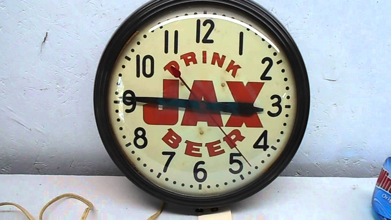 Lot 220 Jax Beer Clock Youtube
