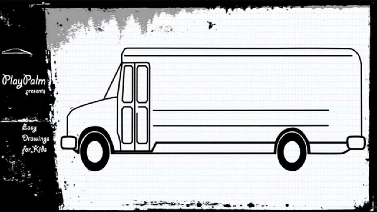 school bus learn to draw school bus how to draw a bus youtube