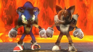 Super Mario Odyssey - Sonic & Tails VS Darker Side