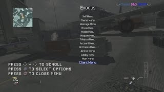 MW3/PS3/SPRX Exodus V1 Non Host Mod Menu 1.24