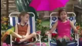A clip from barney and friends with demi selena. selena in blue, pink the first half while they're pool but second out of ...