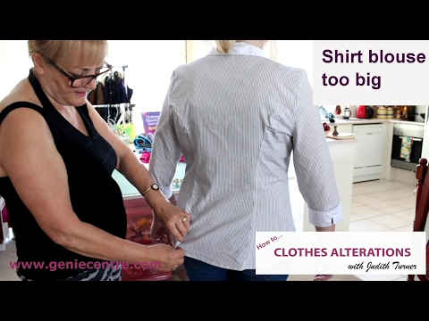 How to alter over-sized shirt blouse