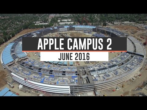 APPLE CAMPUS 2: June 2016 Construction Update 4K
