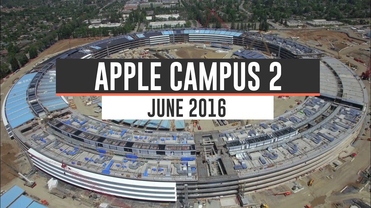 apple campus 2 june 2016 construction update 4k youtube