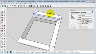 Sketchup 2014   Woodworking Project   Picture Frame