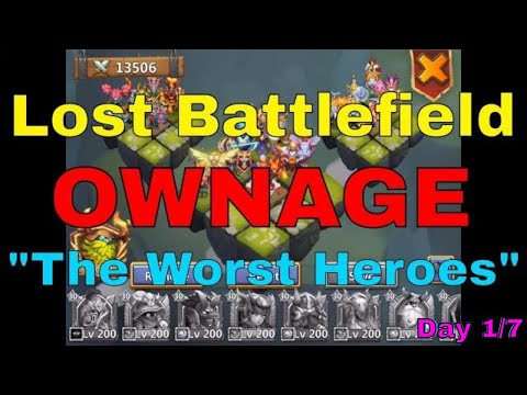 Castle Clash Lost Battlefield Ownage Using