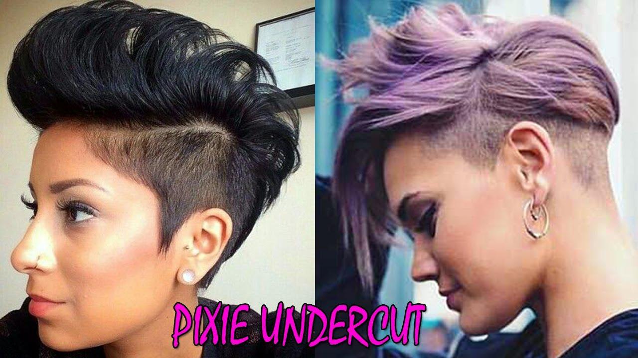SHORT PIXIE UNDERCUT HAIRSTYLES PIXIE UNDERCUT HAIR MAKEOVER - Undercut hairstyle pixie