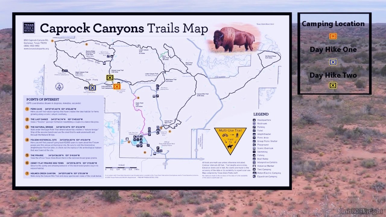 Caprock Canyon State Park Map Caprock Canyon State Park Meetup   YouTube