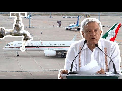 Con venta del avión presidencial atenderán falta de agua en Zacualtipán, dice Obrador