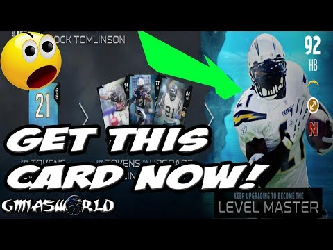 Madden 18 Pro Tip: GET LEVEL MASTER LADAINIAN TOMLINSON RIGHT NOW!(MUST WATCH) MUTSQUADS Gameplay