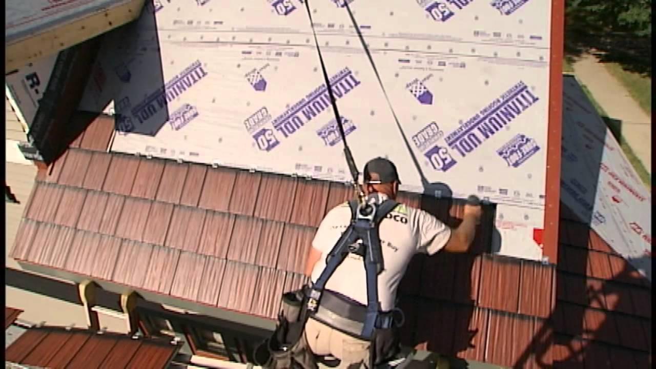 Metal Shake U0026 Slate Roof Installation   Panel Installation 3 Of 6   YouTube