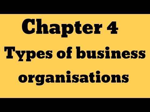 "IGCSE Business Studies _Chapter 4"" Types of business organisations """