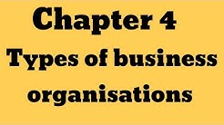 """IGCSE Business Studies _Chapter 4"""" Types of business organisations """""""