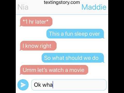 The Lesbian Sleepover Text Story