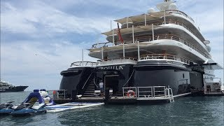 Aquila superyacht and tenders for 1 million euros a week !