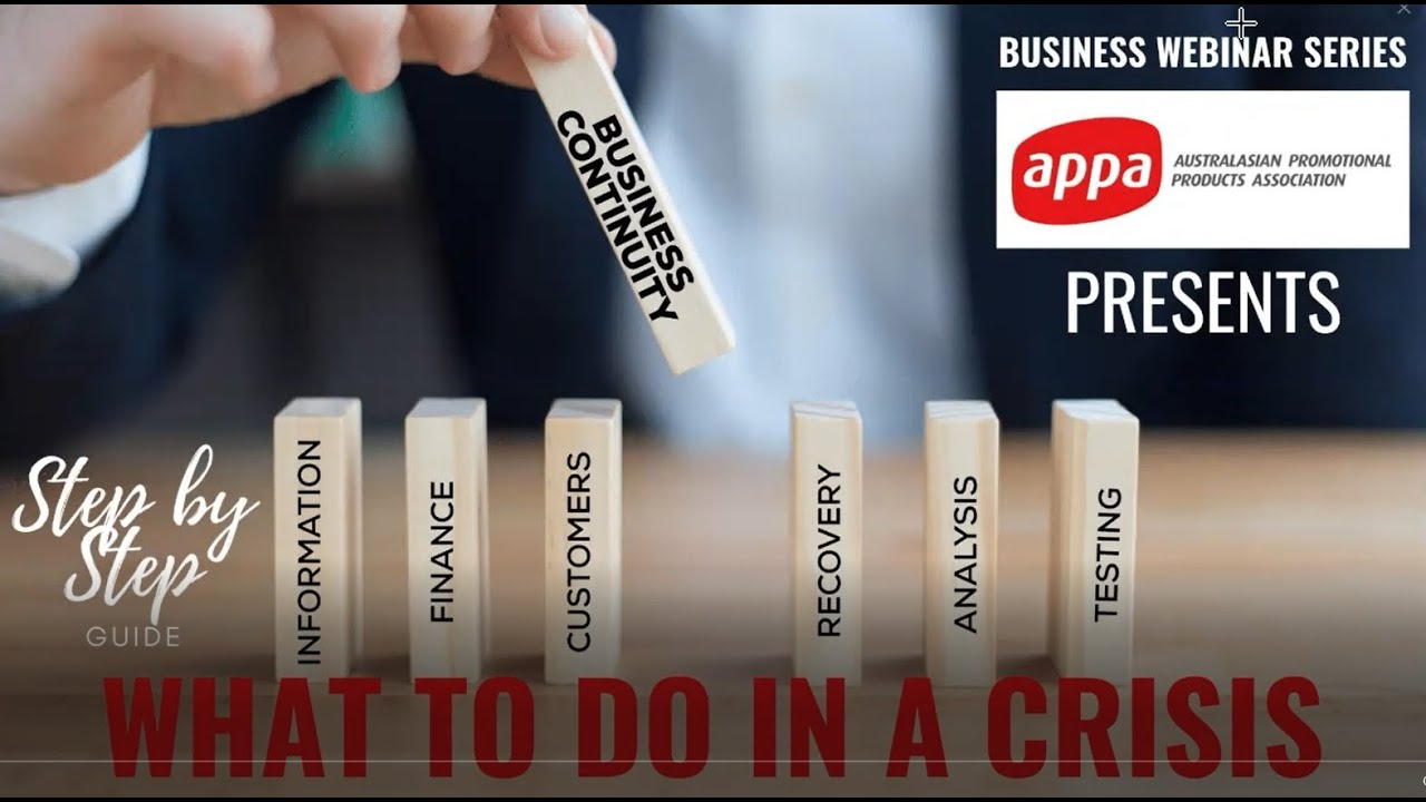 Latest Webinar for APPA:  What to do in a Crisis