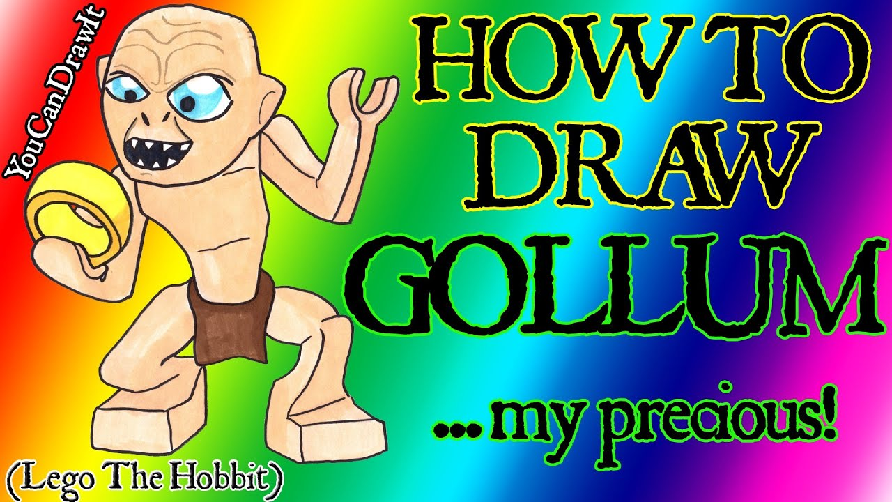 how to draw gollum from lego the hobbit u0026 lord of the rings