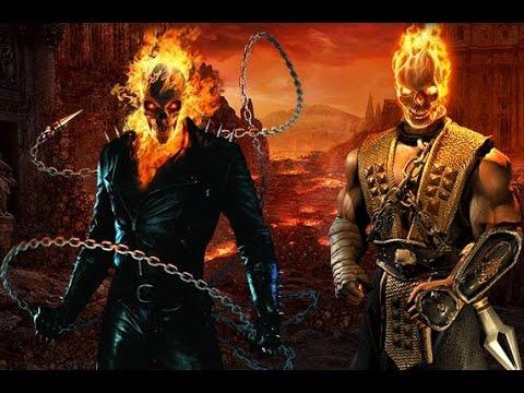 One Minute Melee - Scorpion Vs Ghost Rider (Mortal Komb ...