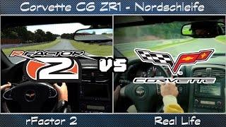 rFactor 2 vs Real Life - Chevrolet Corvette C6 ZR1 @ Nordschleife