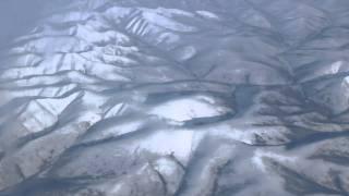 Flying over Siberia on a Virgin Atlantic plane