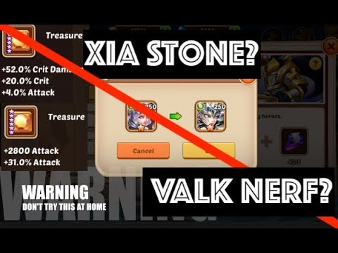 Valkyrie NERFED? E3 Xia What Stone/Treasure? Luck is BACK!