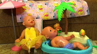 👶🛁👶День с Беби Бонами Тёмой и Лизой! Часть 4 - Фотосессия и водные процедуры. Видео для детей!