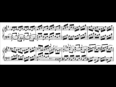Hamelin plays Bach - Gigue from French Suite No. 5 Audio + Sheet music