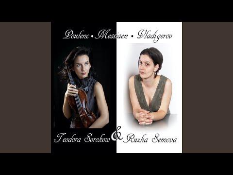 Sonata for violin and piano FP 119; I. Allegro con fuoco