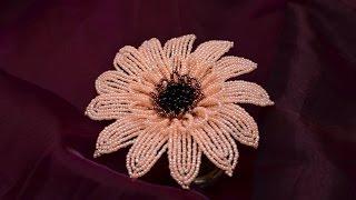 Изготовление цветка герберы из бисера своими руками