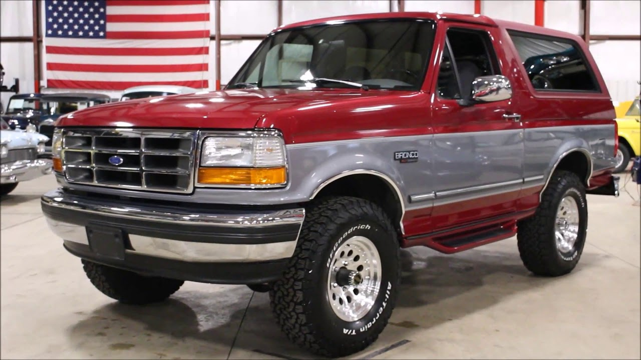 1995 Ford Bronco >> 1995 Ford Bronco Red Gray